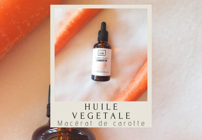 Le macérat huileux de carotte : les bienfaits